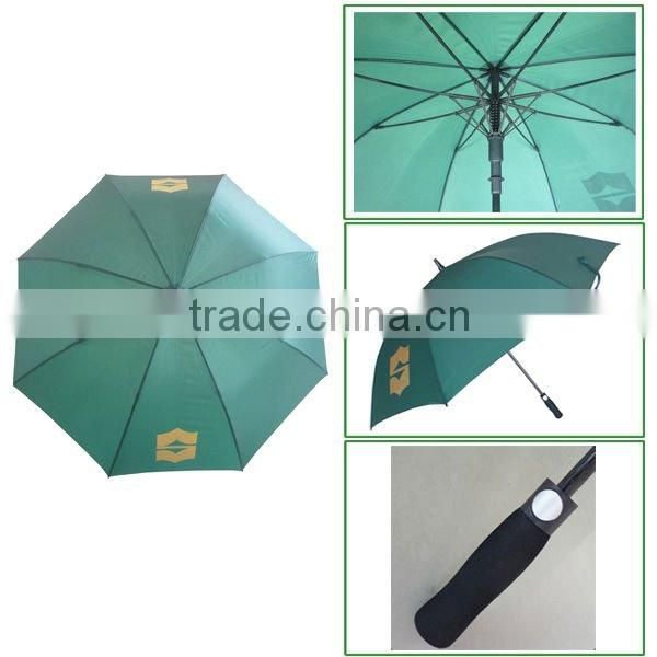 GOOD PROMOTION- double layer high wind-resistant windproof golf umbrella with white logo