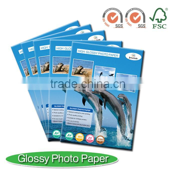 "180g inkjet glossy photo paper for inkjet printer, office paper, A3, A4, A6, 10X15, A2, 4R, 3R, 5R, 24"", 36"", 42"""