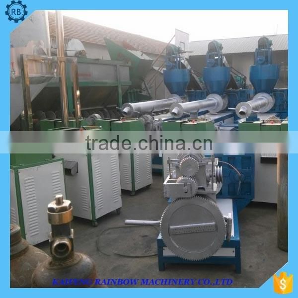 waste pet plastic pelletizing extruder/waste plastic regeneration granulation recycling
