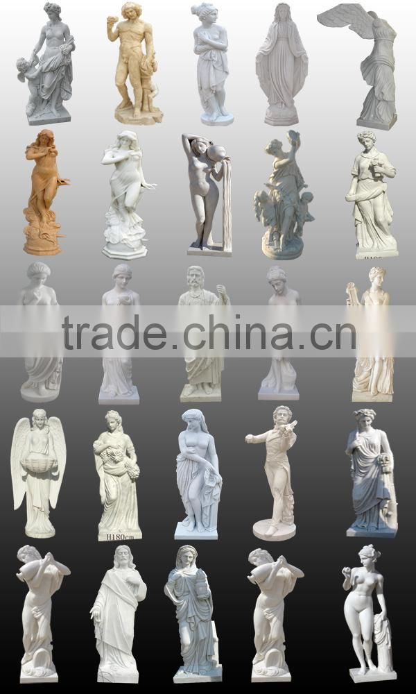 Western custom church character large marble angel statues