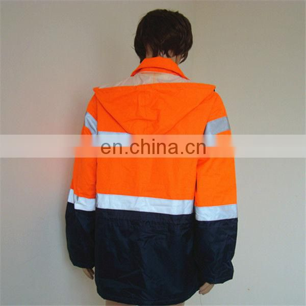 high visibility warm workwear waterproof safety men winter jacket