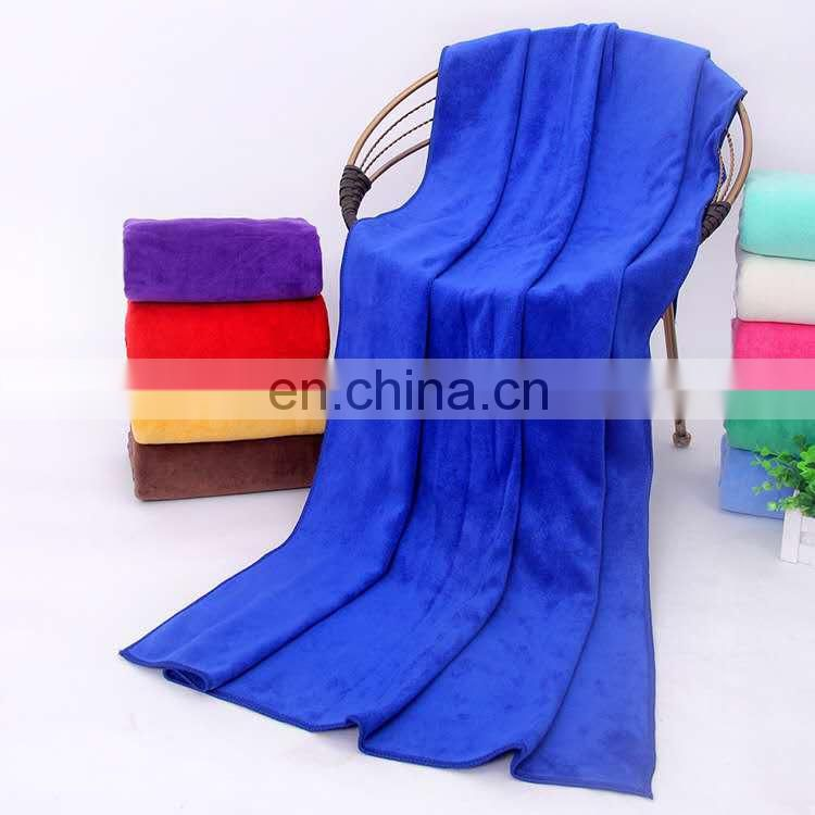 Hot sale bright color super water absorption microfiber bath towel