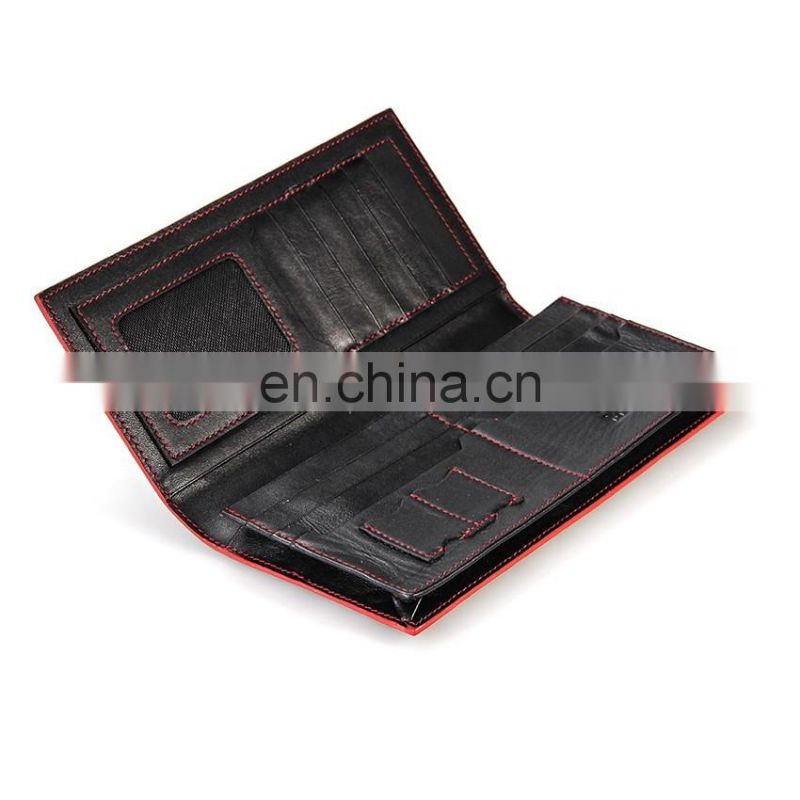 New Promotional Good Quality Human Genuine Leather Wallet Men with Logo