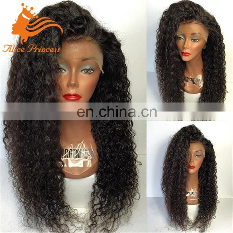 Indian Virgin Kinky Curly Wig long Curly Hair 100% Human Hair Glueless Full Lace Curly Wigs For Black Woman