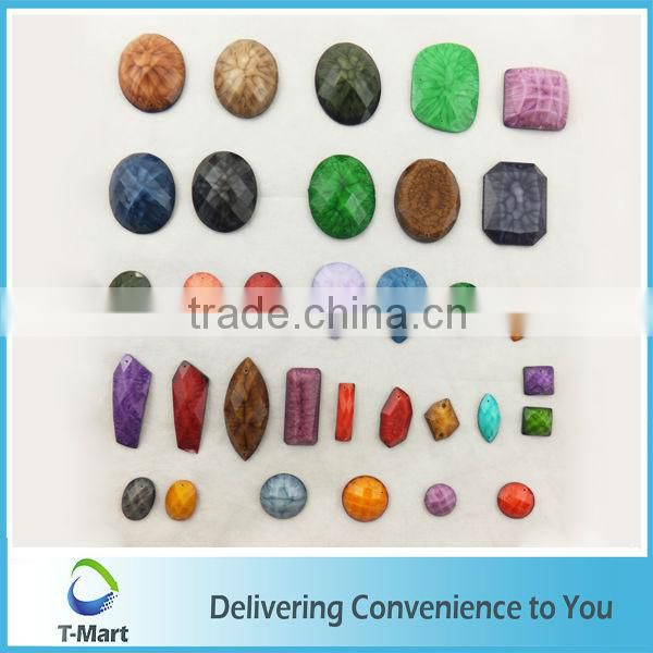 colorful strip resin acrylic beads for dress
