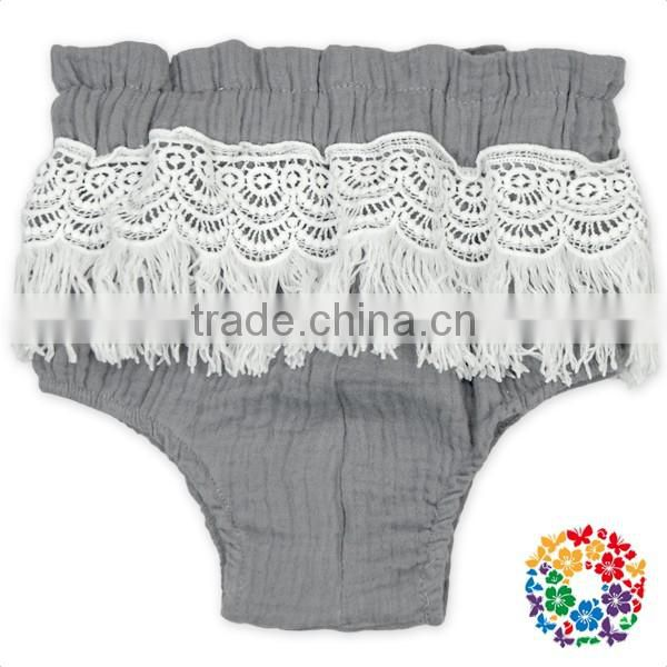 baby boutique wholesale colorful lace trim elastic waist bloomer