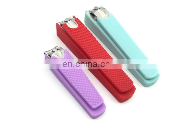 Stainless Steel Nail Clipper with silicone cover