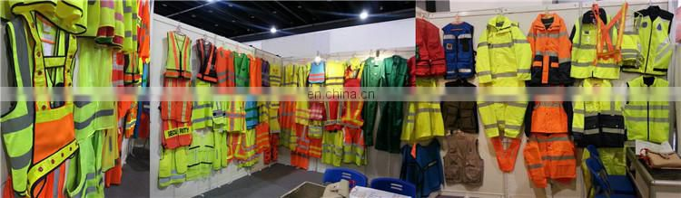 Fluorescent yellow high visibility unisex breathable safety clothes