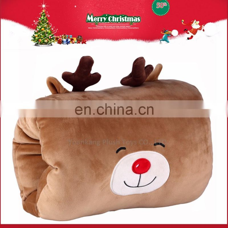 New style cute deer shaped stuffed toys plush hand warmer