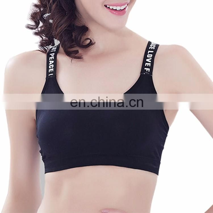 OEM Top Design Black Fitness Women Gym Yoga Sports Bra