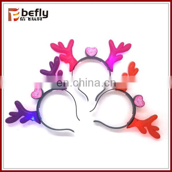 Classical party toys plastic led devil horns headband