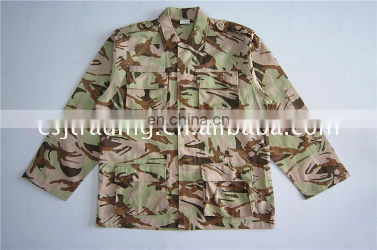Best quality promotional special military uniform fabric security guard printed