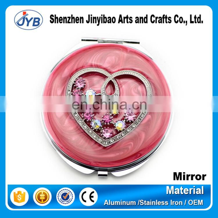 hot selling custom makeup mirror shine peacock gold mirror for gifts