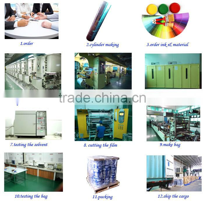 automatic heat seal opp plastic food packing film manufacturers for dried fruit packaging