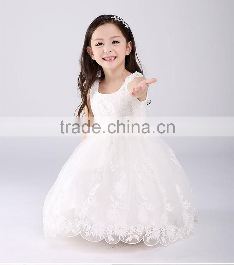 646e71c95 Pakistan Princess Rose Flower girls party dress white Lace Net frock ...