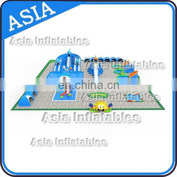 Giant Inflatable Aqua Park,Water Slide With swimming Pool , Water Park Games