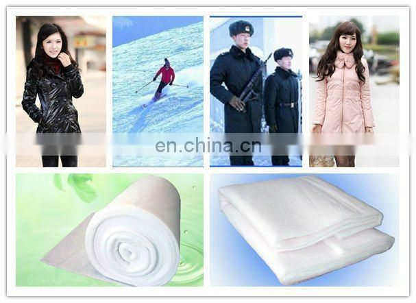 Polyester cotton wadding for bedding thermal insulation material