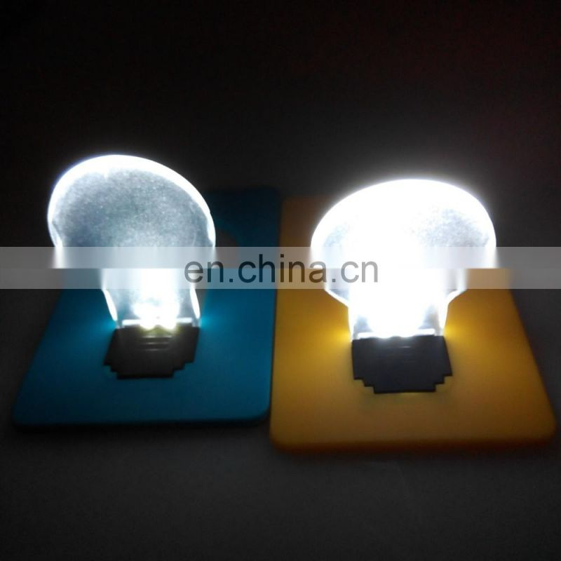 2016 new design mini colorful portable Pocket Led Card Light for promotional gift