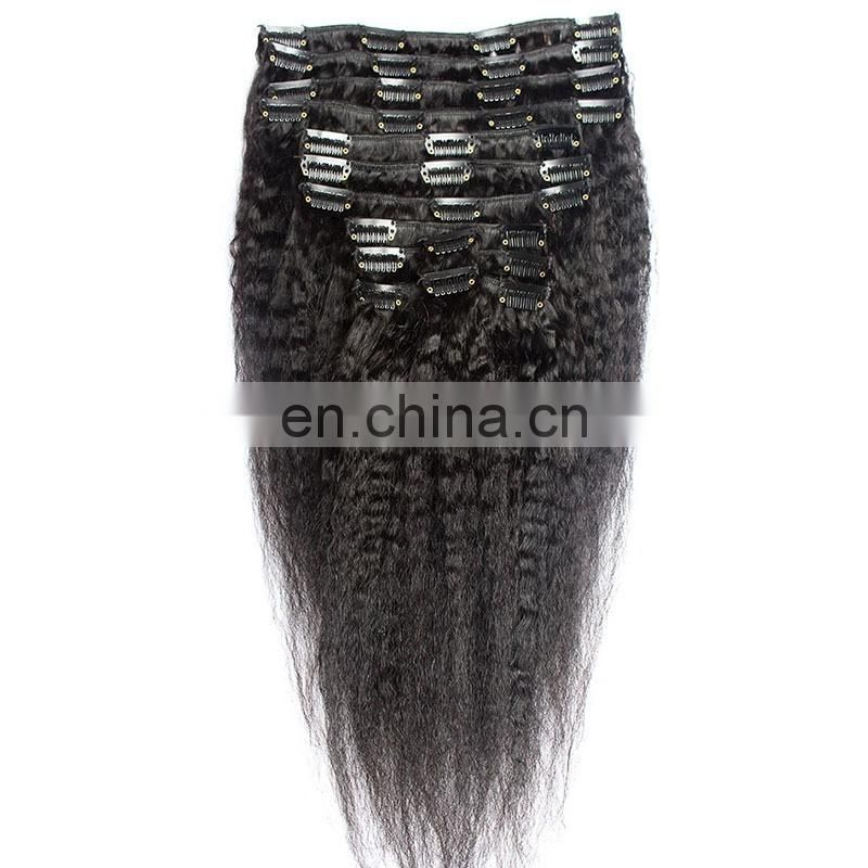 Mongolian virgin hair weave styles kinky straight pictures clip in extensions