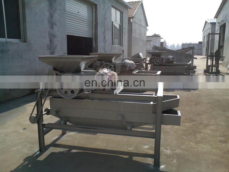 Almond dehulling machine/almond shell and kernel separator/automatic almond dehulling machine