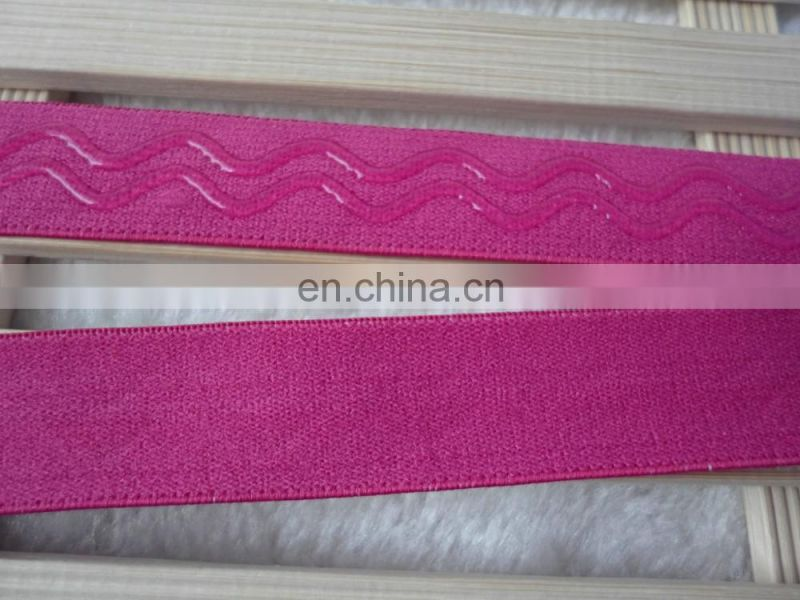 2cm anti slip silicone elastic bands for clothing