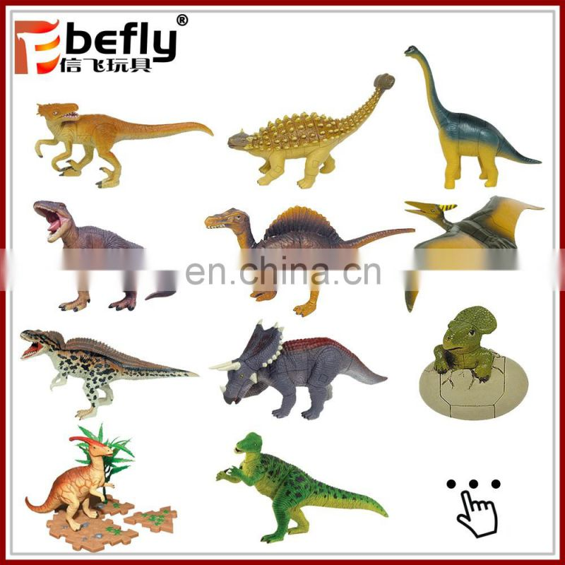 High quality shantou plastic dinosaur figure for kids toy