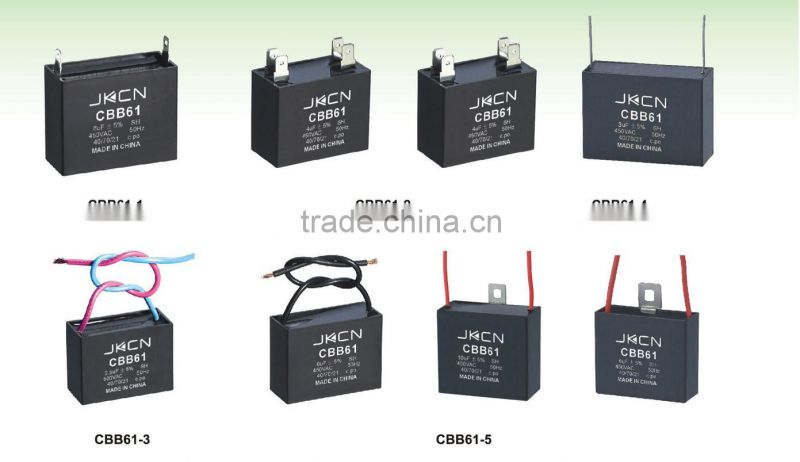 China Manufactory cbb61eletric fan/ ceiling fan wiring capacitor
