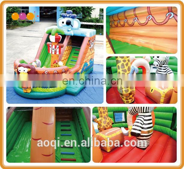 AOQI inflatable pirate bouncer with free EN14960 certificate for sale