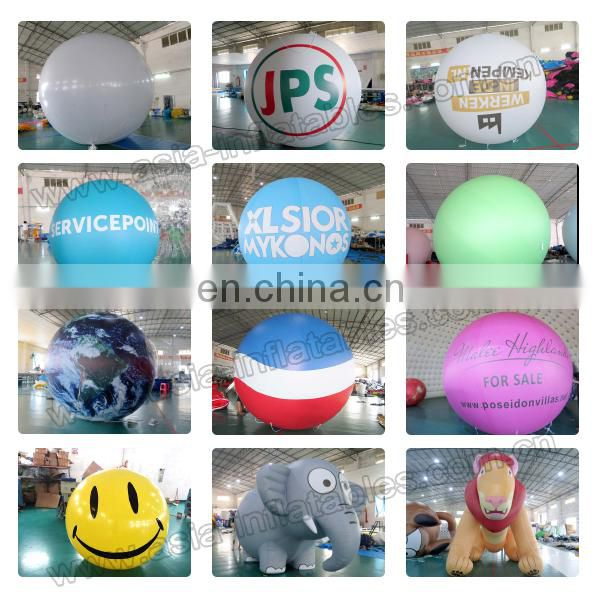 Creative durable printable slogan helium advertising inflatable blimp balloon for sale