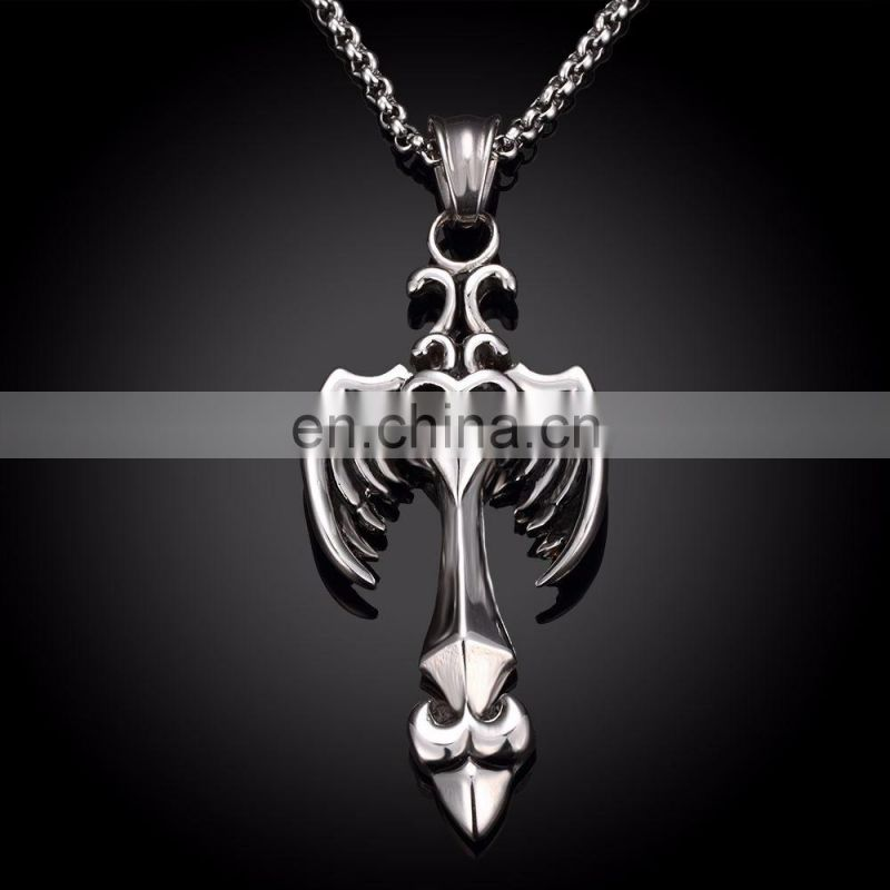 Hip Hop Style Wings Shaped Stainless Steel Necklace Chain for Men