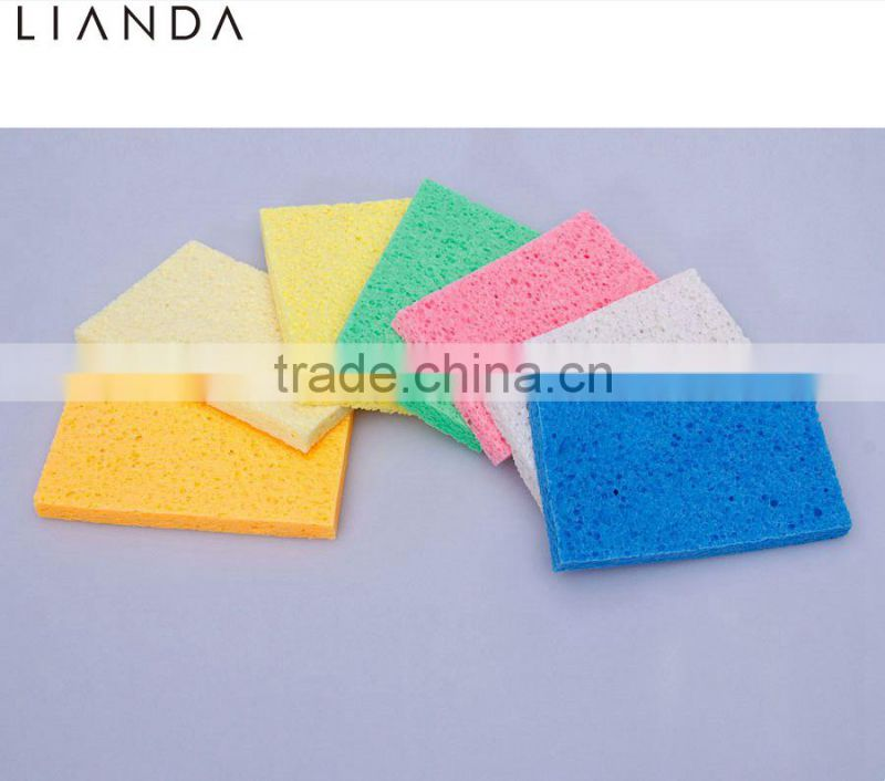 2016 Hot sales Deep Cleaning Pore Refreshing Natural wholesale Fresh color Compressed Remover Cellulose Sponge