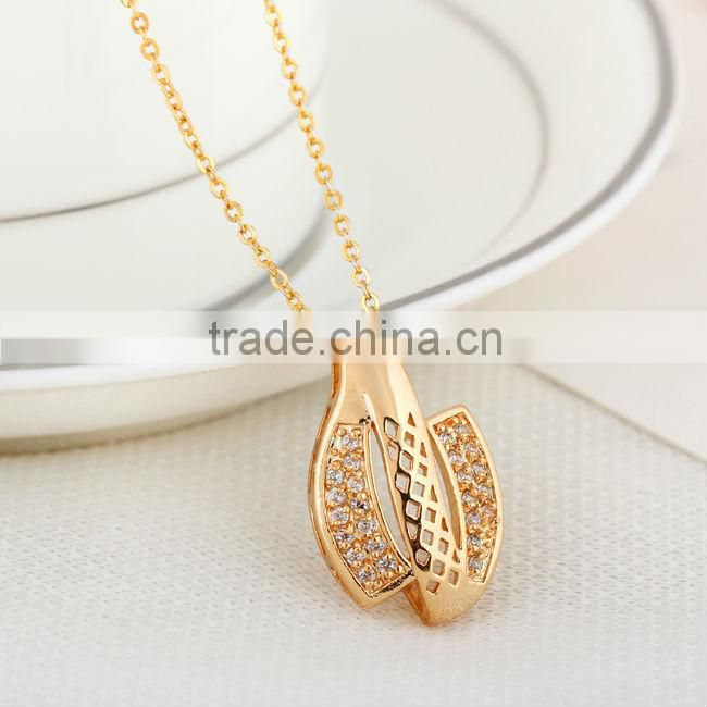 meaningful handmade gold pendant chain necklace(AM-D0259-J-B)