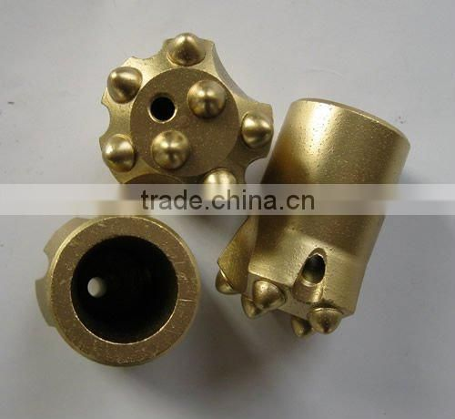 thread button drill bit