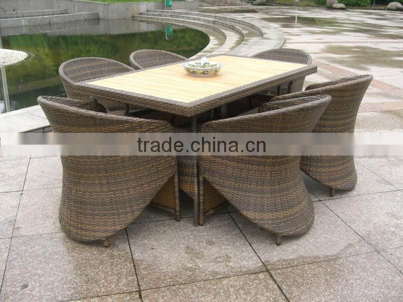 Wicker coffee table and chairs