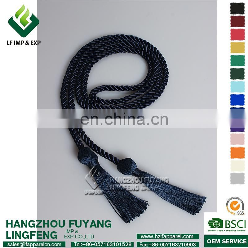 Single Color Graduation Honor Cord (Navy Blue)
