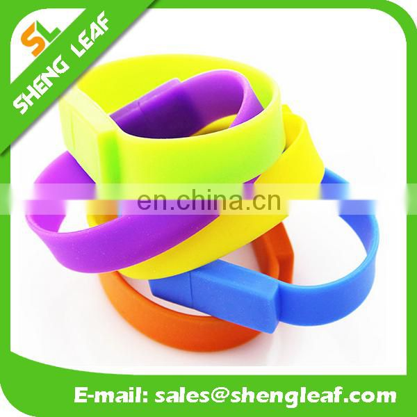 Cheap silicone wristband usb