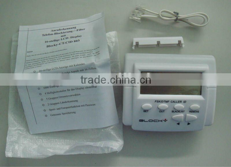 2 wire rj11 telephone cable whitelist box of Caller ID Box from
