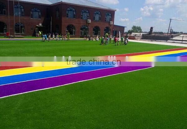 colors rainbow artificial grass for landscape kids playground