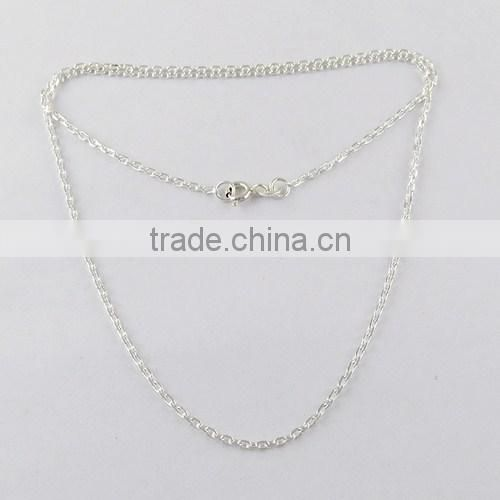 Box Chain With Ball !! Springring Lock Plain Silver 925 Sterling Silver Chain, Exporter And Wholesaler, Fresh Silver Jewellery