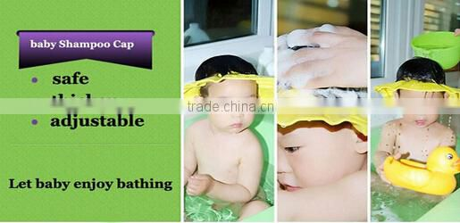 Soft Adjustable Baby Shower Shield Hat Shampoo Bathing Shower Cap Hat Wash Hair Shield Hat