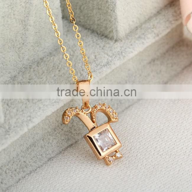 white gold with diamond pendant necklace(AM-D0329)