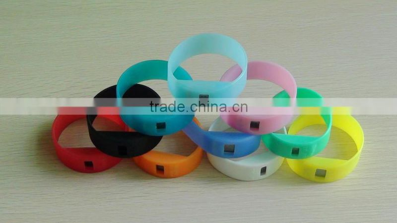 lovely mixed colors silicone power watch for children