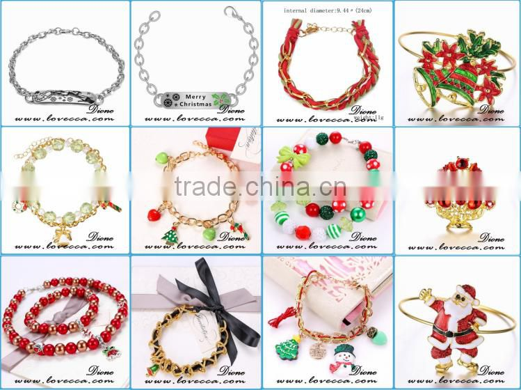 2016 new fashion Christmas tree +Santa Claus Christmas bracelets for young girls