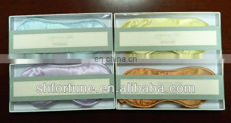 Colourful 100% silk sleeping eye mask
