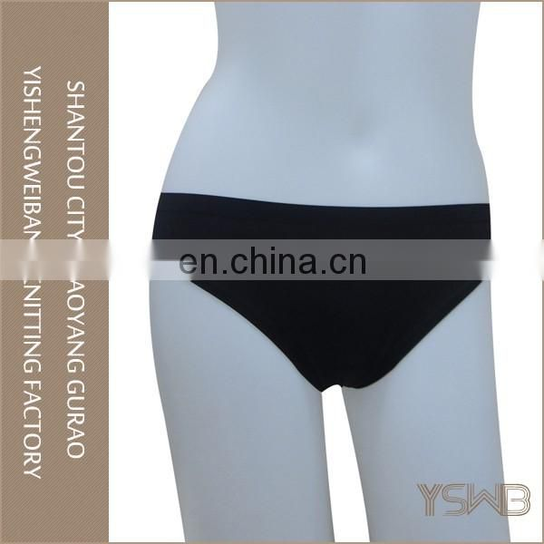 Black cotton soft hipster panty woman comfortable sexy underwear