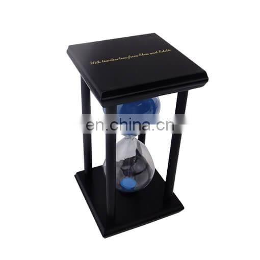 OEM Creative Decorative Wooden Custom Hourglass Sand Timer 60 Minute