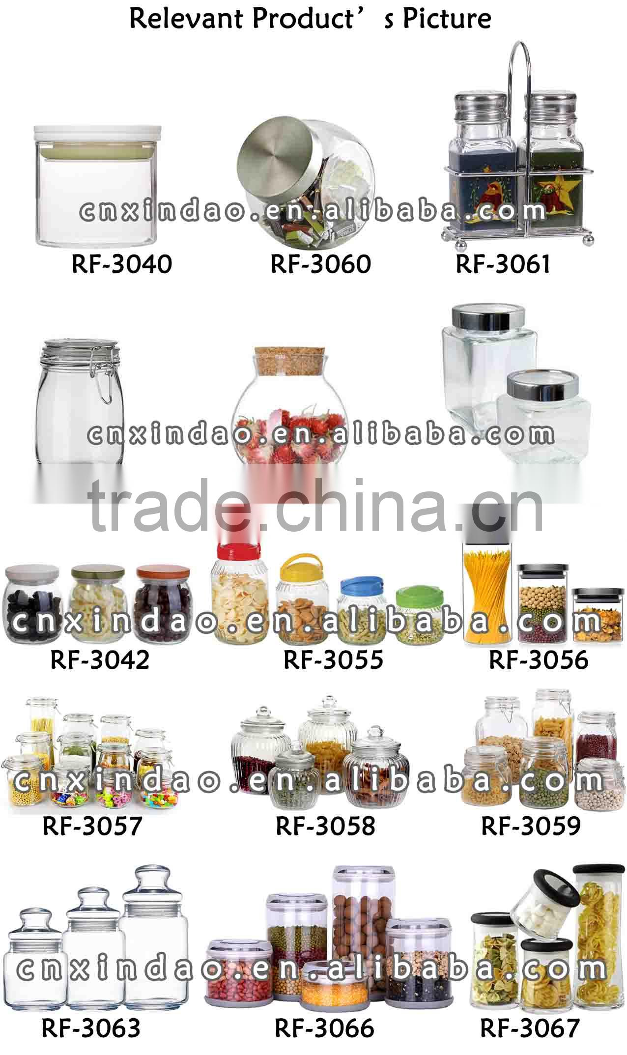 Hot Sale Popular Daily Used Professional Glass Jar with Lid for Kitchenware