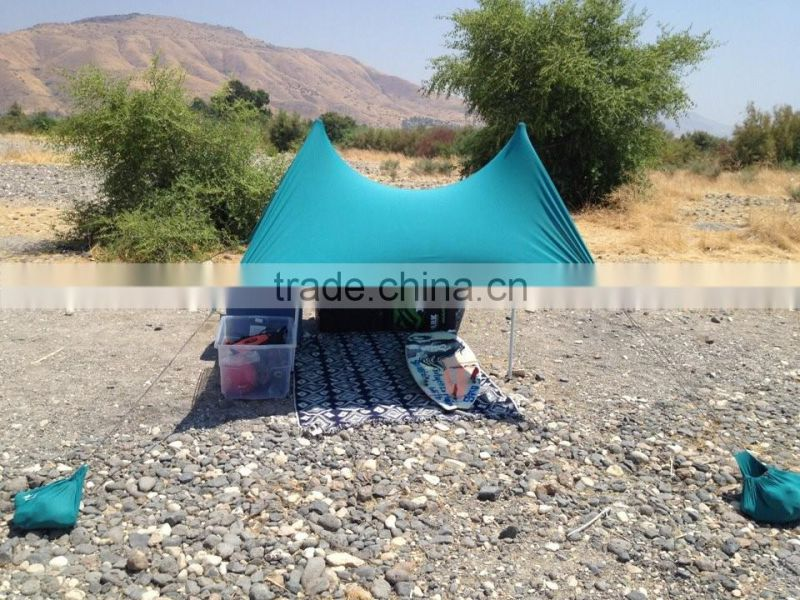 BEACH TENT CANOPY FESTIVAL UV SUN SHADE WIND BREAK SHELTER
