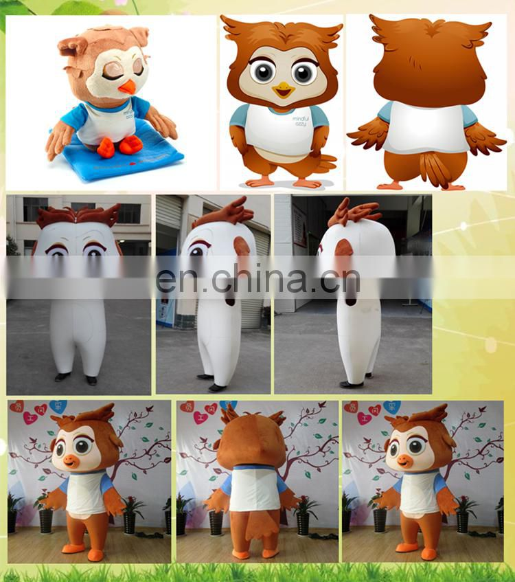 2017 soft plush comfortable kite cheap custom mascot costumes