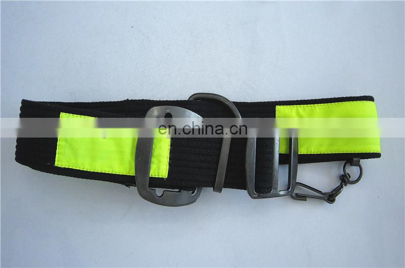 Cotton Reflective Military Belt With Brass Buckle